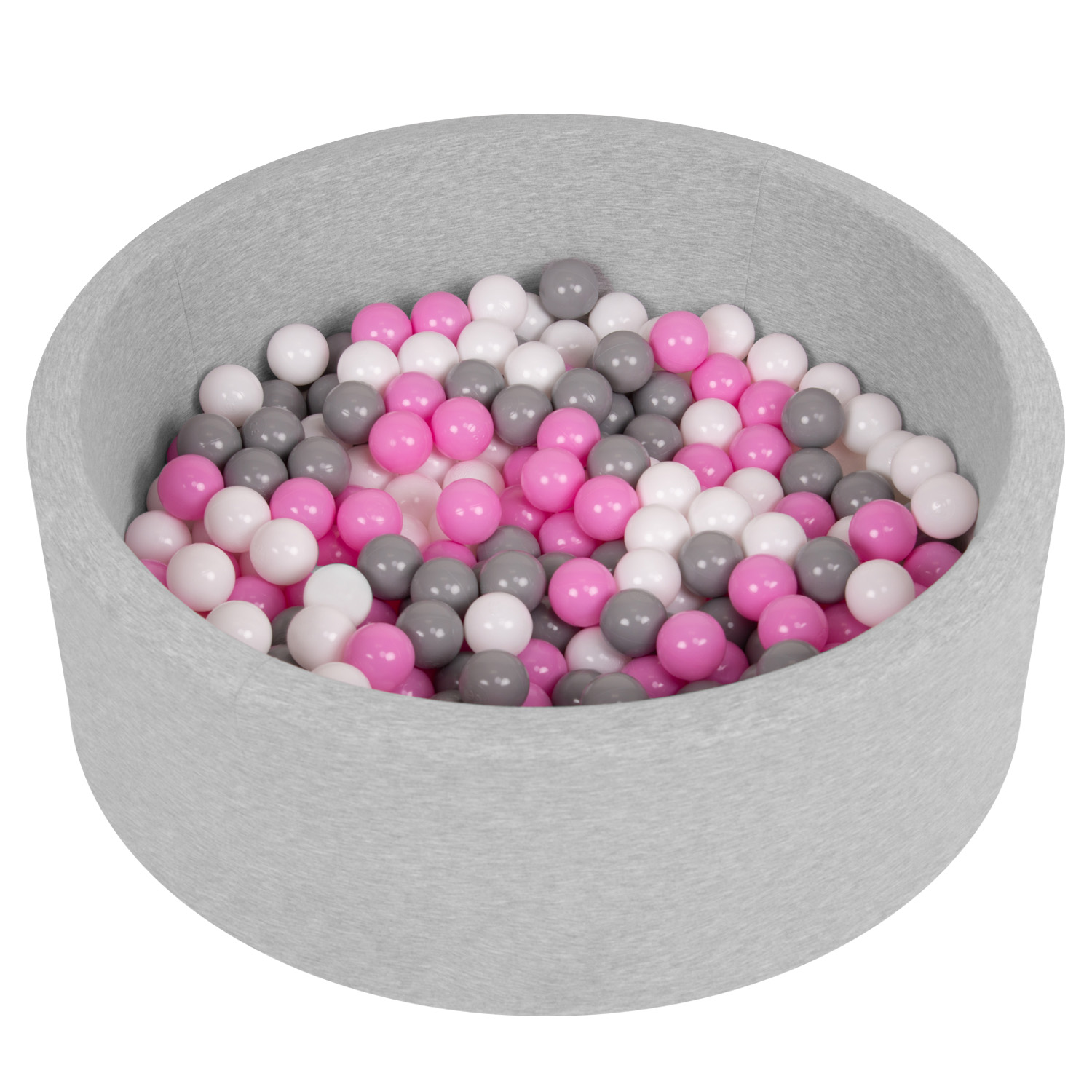 Selonis-Soft-Ball-Pit-Pool-Round-90x30cm-for-Baby-Toddler-200-Balls-Foam miniatuur 5