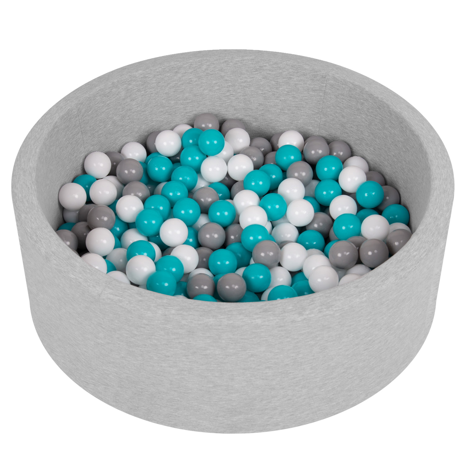 Selonis-Soft-Ball-Pit-Pool-Round-90x30cm-for-Baby-Toddler-200-Balls-Foam miniatuur 9