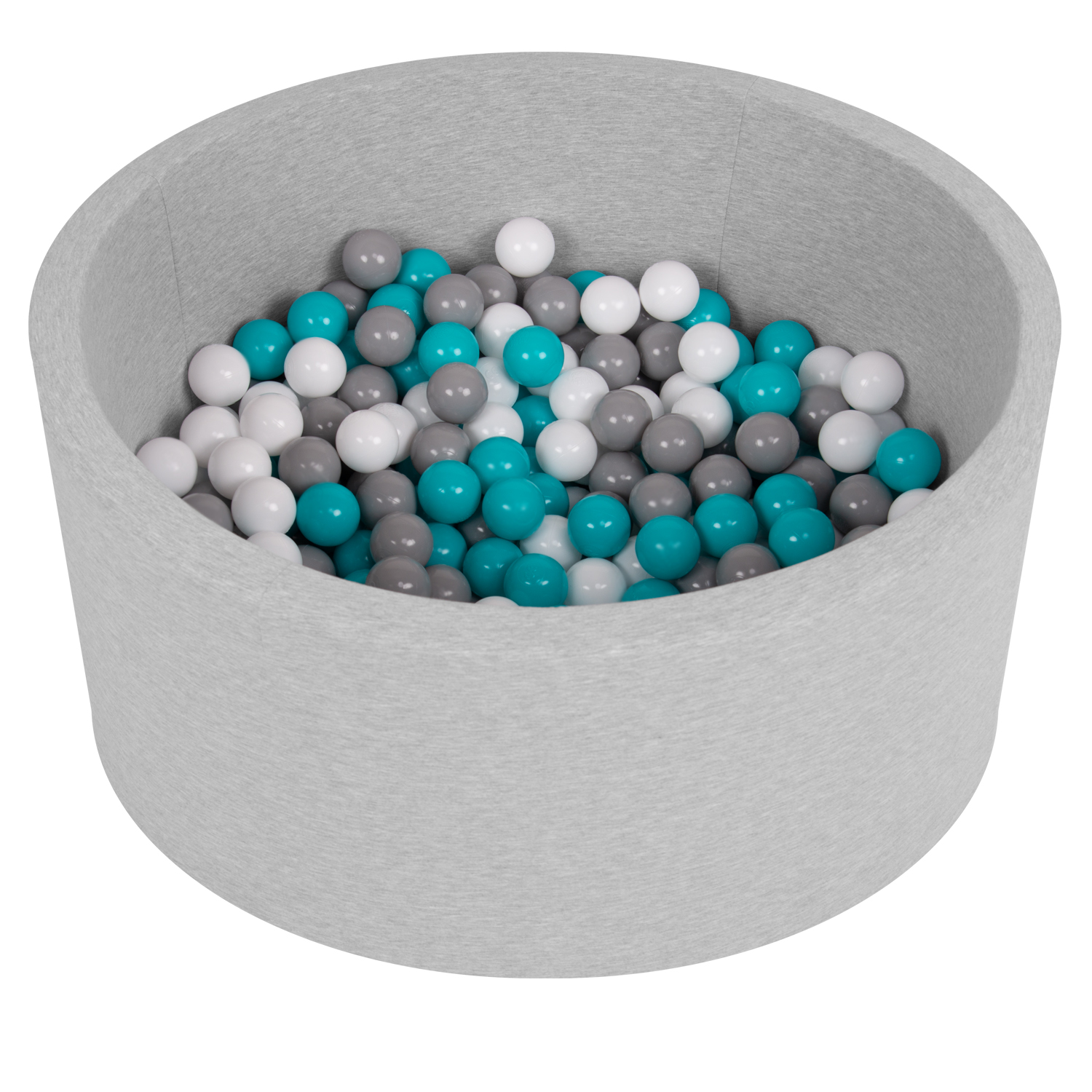 Selonis-Soft-Ball-Pit-Pool-Round-90x30cm-for-Baby-Toddler-200-Balls-Foam miniatuur 7