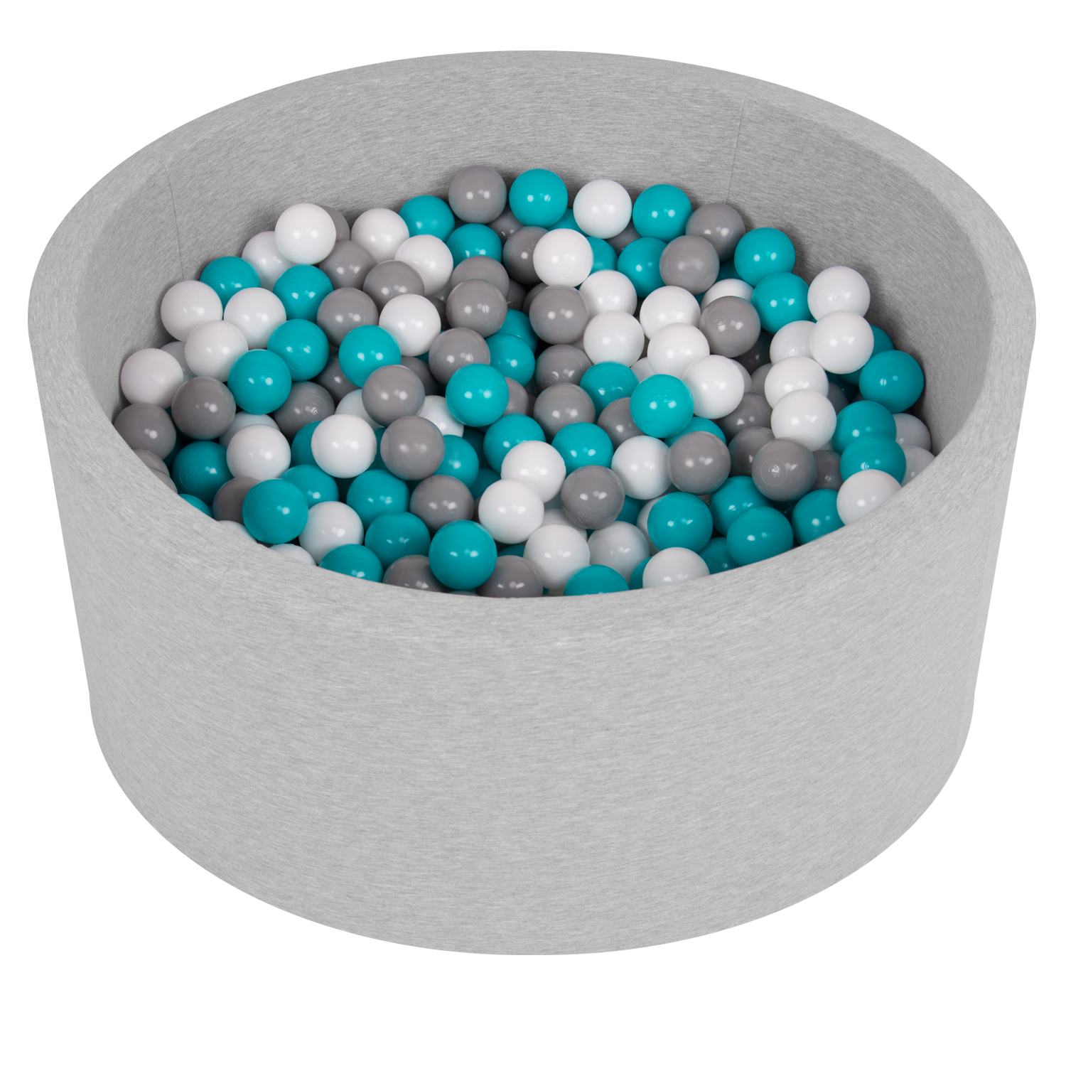 Selonis-Soft-Ball-Pit-Pool-Round-90x30cm-for-Baby-Toddler-200-Balls-Foam miniatuur 8