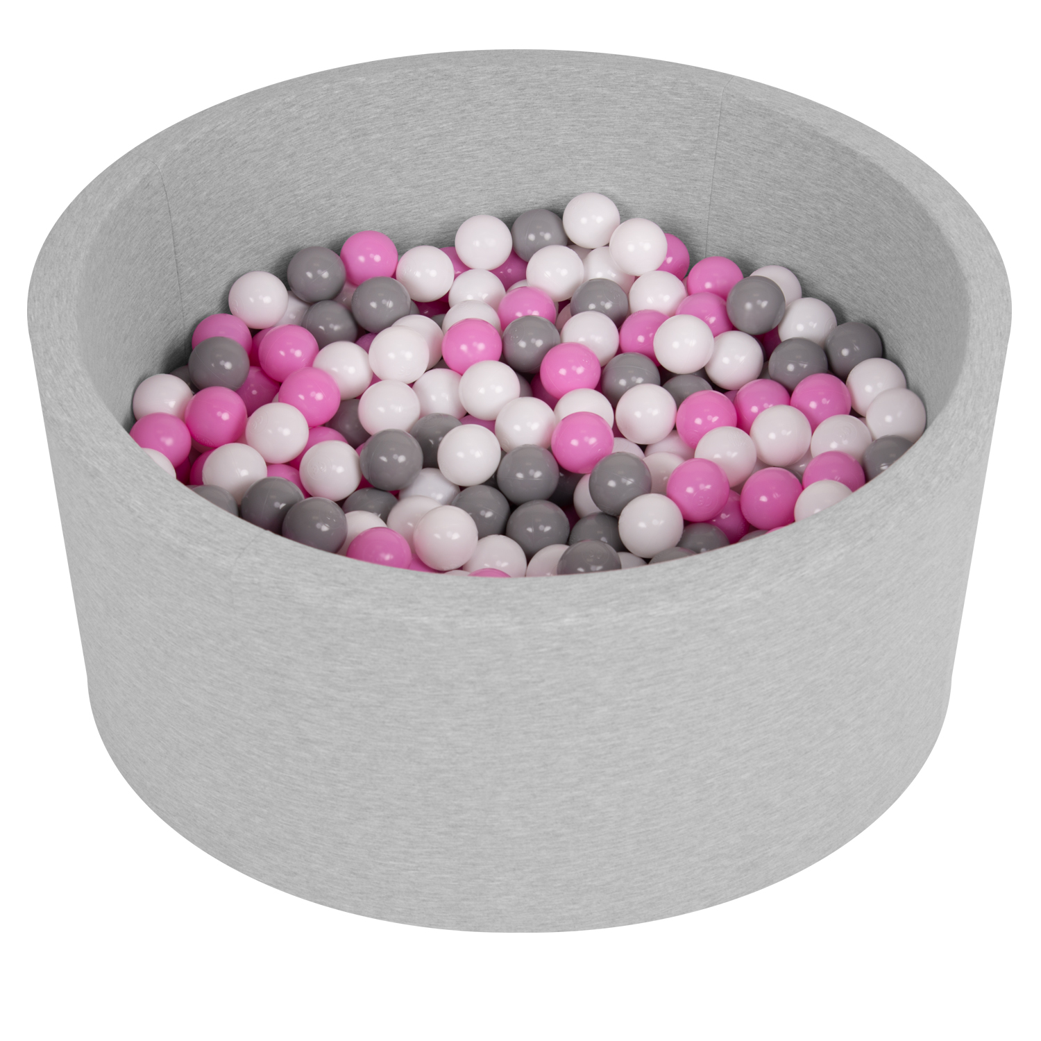 Selonis-Soft-Ball-Pit-Pool-Round-90x30cm-for-Baby-Toddler-200-Balls-Foam miniatuur 3