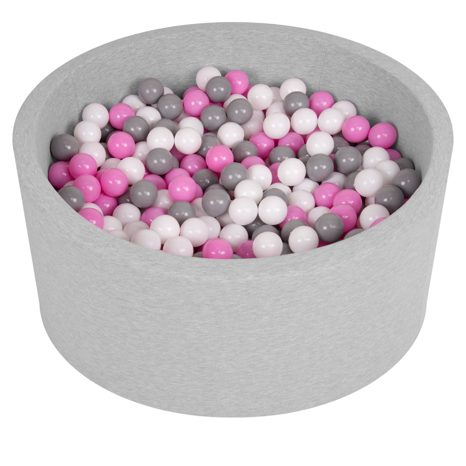 Selonis-Soft-Ball-Pit-Pool-Round-90x30cm-for-Baby-Toddler-200-Balls-Foam miniatuur 4